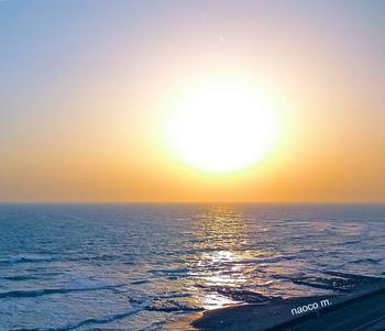 春の夕陽御前崎.JPG